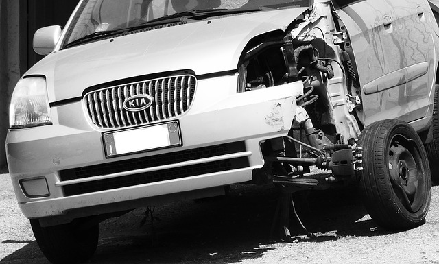 auto po nehodě