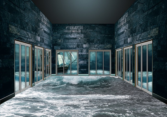 moře v místnosti